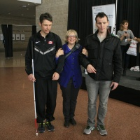 Paralympic Athletes Jason and Jon Dunkerley with Reach Executive Director Photo by Elodie Drew