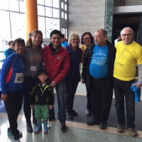 MPP Yasir Naqvi with Members of the Reach Board of Directors and the Run for Reach Committee.