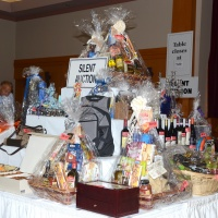 Auction Pyramid at the 2015 Reach 35th Anniversary Celebrity Gala Auction held on October 22, 2015