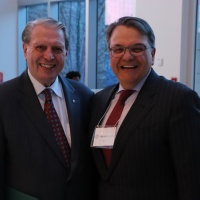 Honourary Chairperson,  The Honourable John D. Richard, Former Chief Justice, Federal Court of Appeal (ret'd), with Honourary Counsel, Domenic Crolla, Partner at Gowling WLG