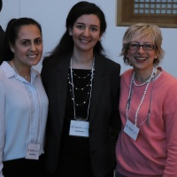 Volunteer Myriam Wills, Articling Student Mariam Morcos, Executive Director Joanne Silkauskas